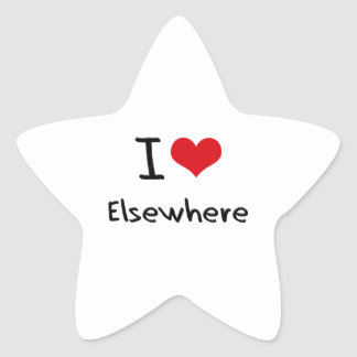 I love Elsewhere Star Stickers