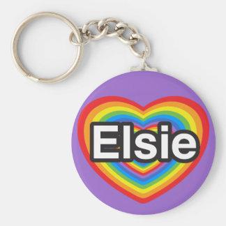 I love Elsie. I love you Elsie. Heart Keychains