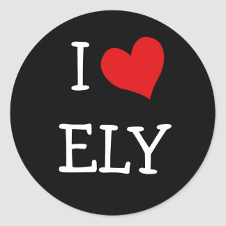 I Love Ely Classic Round Sticker