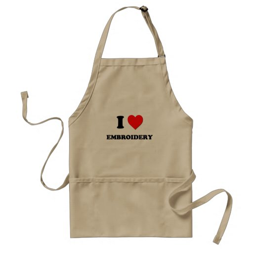 I love Embroidery Aprons