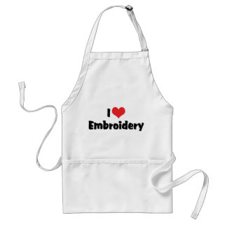 I Love Embroidery Adult Apron