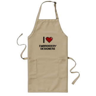 I love Embroidery Designers Long Apron