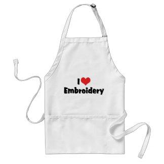 I Love Embroidery Standard Apron