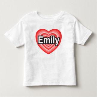 I love Emily. I love you Emily. Heart Toddler T-Shirt