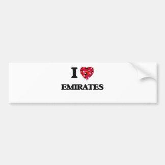 I love EMIRATES Bumper Sticker