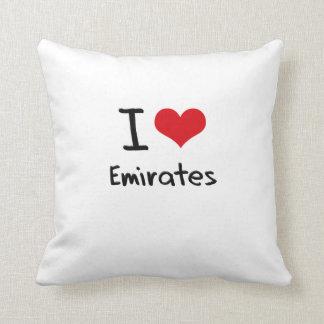 I love Emirates Throw Pillows