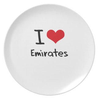 I love Emirates Plate