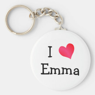I Love Emma Key Ring