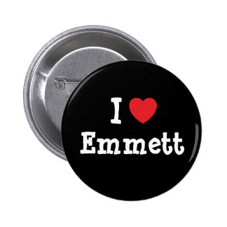 I love Emmett heart custom personalized Pinback Buttons