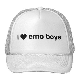 I Love Emo Boys Trucker Hats