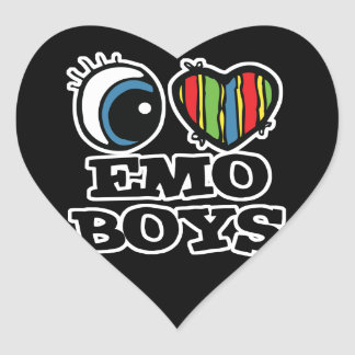 i love emo boys heart sticker