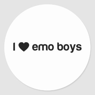 I Love Emo Boys Round Sticker