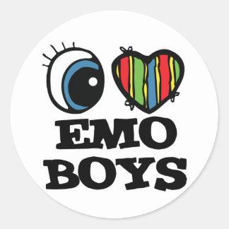 i love emo boys sticker