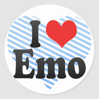 I Love Emo Sticker