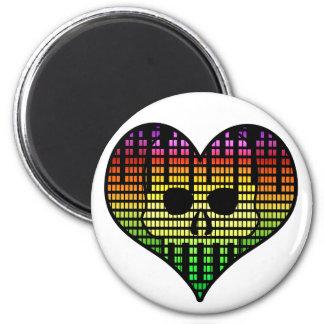 I love Emo Techno 6 Cm Round Magnet