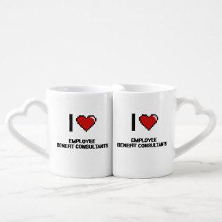 I love Employee Benefit Consultants Lovers Mug Sets