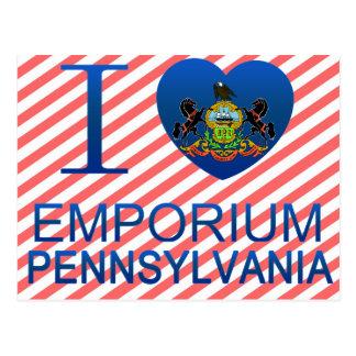 I Love Emporium, PA Postcards