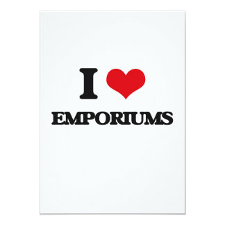 "I love EMPORIUMS 5"" X 7"" Invitation Card"