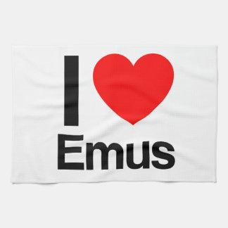 i love emus tea towel
