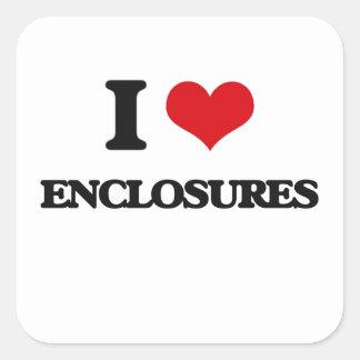 I love ENCLOSURES Square Sticker