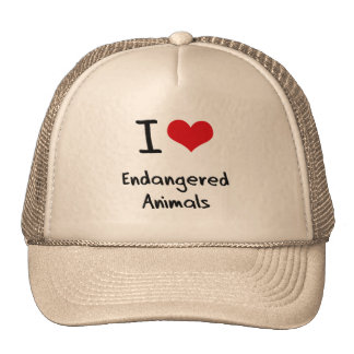 I love Endangered Animals Trucker Hats