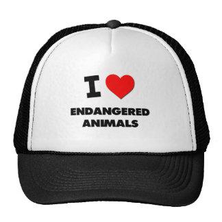 I love Endangered Animals Mesh Hats