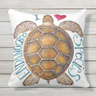 I Love Endangered Species Pillow