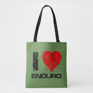 I Love Enduro Tote Bag