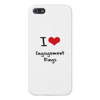 I love Engagement Rings Case For iPhone 5/5S