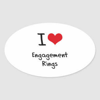 I love Engagement Rings Oval Stickers