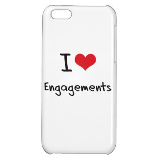I love Engagements Cover For iPhone 5C