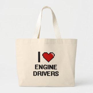I love Engine Drivers Jumbo Tote Bag