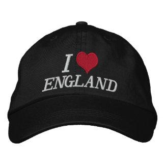 I Love England Embroidered Baseball Cap