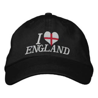 I Love England Embroidered Baseball Caps