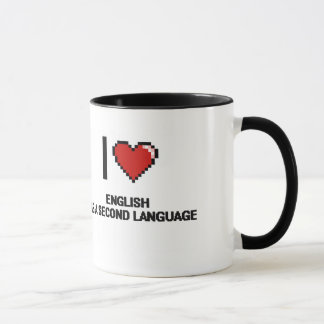 I Love English As A Second Language Digital Design Mug
