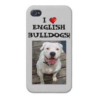 I Love English Bulldogs! iPhone 4 Case