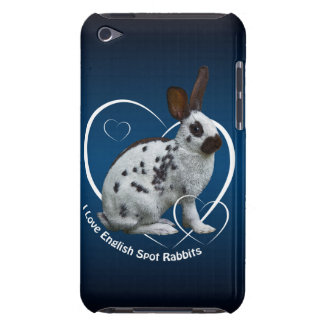 I Love English Rabbits iPod Case (Blue/Black)