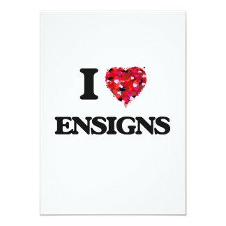 I love ENSIGNS 13 Cm X 18 Cm Invitation Card