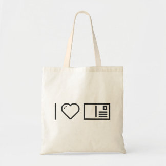 I Love Envelope Covers Budget Tote Bag