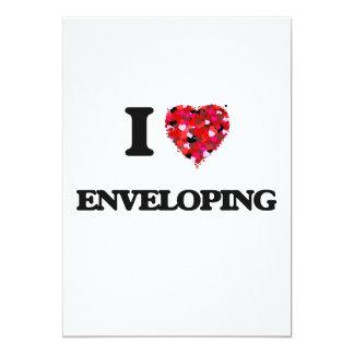 I love ENVELOPING 13 Cm X 18 Cm Invitation Card