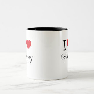I love Epilepsy Two-Tone Coffee Mug