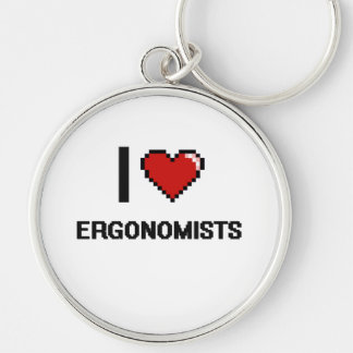 I love Ergonomists Silver-Colored Round Key Ring