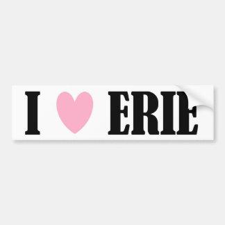 I LOVE ERIE BUMPER STICKER
