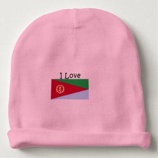 I Love Eritrea Custom Baby Cotton Beanie Baby Beanie