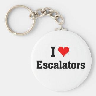 i love Escalators Key Ring