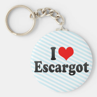 I Love Escargot Key Ring