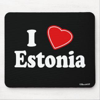 I Love Estonia Mouse Pad