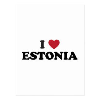 I Love Estonia Postcard
