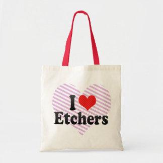 I Love Etchers Canvas Bag