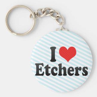I Love Etchers Key Chains